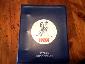 1974-1975 WHA Media Guides, Binder, Whalers, Nordiques, Toros, Saints, Cougars