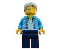 Lego älterer Mann Opa mit Brille Hawaii Shirt Minifigur City cty0762 Figur Neu