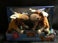New 2003 Hasbro Disney Brother Bear Talking Rutt & Tuke Plush NEW IN BOX
