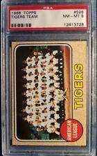 1968 TOPPS #528 TIGERS TEAM, PSA NM-MINT 8! WORLD SERIES CHAMPIONS!!!