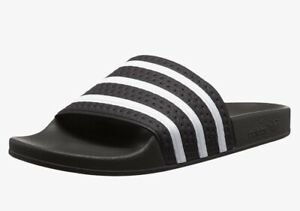 Adidas Mens Adilette Core Black/White/Core Black Slides