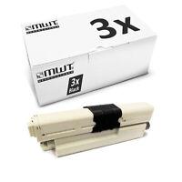 3x MWT Toner SCHWARZ für OKI MC-332-DN MC-342-DN C-321-DN C-301-DN MC-342-DNW