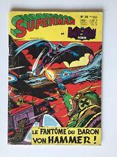 SUPERMAN ET BATMAN N° 39 LE FANTOME DU BARON VON HAMMER / COMICS SAGEDITION 1972