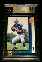 BGS 9.5 POP 3 PEYTON MANNING RC *SSP EO PORTRAITS ROOKIE *1998 Pacific Omega #10