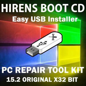 HIREN'S BOOT CD 15.2 USB | RECOVERY | RESTORE | REPAIR | PC FIX TOOLS SUITE