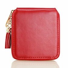 Womens Lady Leather Small Mini Wallet Card Holder Zip Coin Purse Clutch Handbag