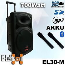 "12"" inch 700W Mobile PA Sound System Battery BT/MP3/USB/SD Mic Portable Speaker"