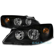 FOR 05-10 PONTIAC G6 GT REPLACEMENT HEADLIGHTS HEADLAMPS LAMP BLACK 06 07 08 09