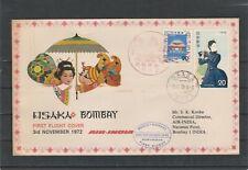 AIR INDIA 1972 FIRST FLIGHT COVER OSAKA JAPAN TO BOMBAY