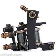Professional Iron 12 Wrap Coils Tattoo Machine Liner Gun Classic Frame - Black