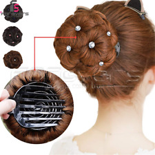 New Claw Bun Extension Rhinestone Clip Updo Ponytail Hairpieces For Women Hair