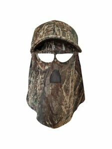 Mossy Oak Duck Blind Hat with Built-in Face Concealment (60cm, 7 1/2 Adjustable)