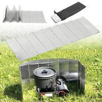 Windschutz für Campingkocher Gaskocher Outdoor Picknick Faltbarer 9 Platten