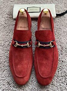 Authentic Gucci Horsebit Maroon Mens Suede Loafer Gucci/UK9 EU43 US9.5