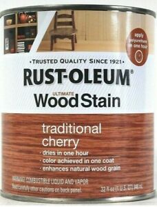 Rust-Oleum Ultimate Wood Stain One Coat 316187 Traditional Cherry 32 Oz