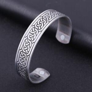 Vintage Norse Viking Celtic Irish Knot Magnetic Healthcare Bracelet Gift for Men