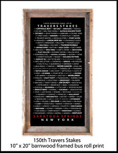 Travers Stakes 150th Running - Bus Roll Framed in Barnwood