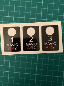 DJI Mavic Air 2 Battery numbers Sticker Set