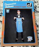 DOMANTAS SABONIS 2016 Donruss #1 Draft Pick Rookie Card RC Logo Pacers $$ HOT $$