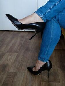 Sergio Rossi High Heel Stiletto Pumps Gr. 40 gern getragen Vero Cuoio Sammler