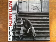 Patti Smith About The Night And What It Does To You Ltd Ed/750 Not TMOQ TAKRL