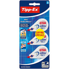 Tipp-Ex Corrección de ratón Roller cinta Tipp Ex Mini Pocket Mouse 3 Pack 6mx5mm