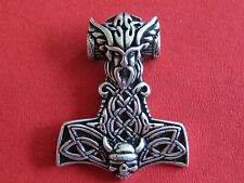 Thor s Hammer 925'er Silber + Geschenkbox + Band etNox Anhänger / KA 349