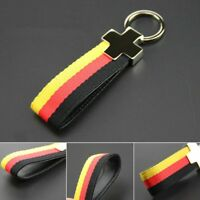 For VW Car Styling Fashionable Belt Chrome Keyring Keychain Key Fob Chain Sport