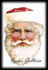 Vintage Gifted Line Victorian Christmas Santa Claus John Grossman Stickers