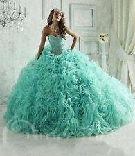2016 Luxury Quinceanera Dress Ball Gown Prom Paty Pageant Evening Wedding Dress
