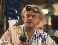 CHRISTOPHER LLOYD SIGNED 11X14 PHOTO BACK TO THE FUTURE DOC BROWN AUTO PSA/DNA N
