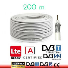 CAVO ANTENNA COASSIALE 6.8MM PER TV TERRESTRE E SAT. PVC BIANCO 200MT HD CLASS A