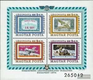 Hungary block109a (complete issue) used 1974 post flight marks-