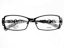 LAFONT Grace 100 Eyeglasses Frame Black Titanium Made in France NEW