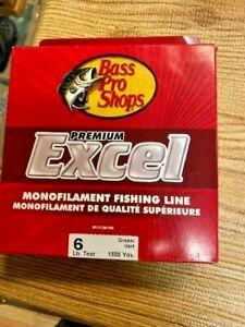 BASS PRO Green  6 lb 1500 yds  Fishing Line MONO NEW IN BOX