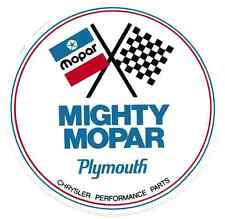 Mighty Mopar Racing Decal Sticker 5 Inches Long Vinyl Authorized Reproduction