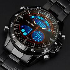 INFANTRY Herren Armbanduhr Digital Edelstahl Sport Chronograph Militär Outdoor
