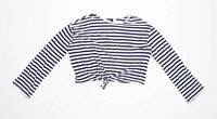 H&M Womens Size S Striped Cotton Blend Multi-Coloured Long Sleeve T-Shirt (Regul