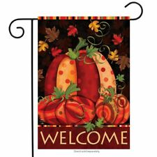 "Fall Festival Pumpkin Garden Flag Primitive Autumn Leaves 12.5"" x 18"""