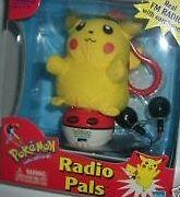 NEW POKEMON REAL FM RADIO PALS PIKACHU w/EARPHONES HASBRO NINTENDO TIGER FREE SH