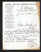 """PARIS (XX°) DECOUPAGE EMBOUTISSAGE PERFORATION sur METAUX """"J. LAVIGNE"""" en 1922"""