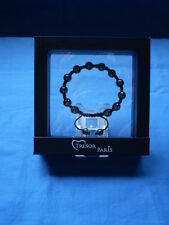 GENUINE Tresor Paris Gun Metal Bead Bracelet in Original Box PRISTINE CONDITION
