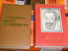 lot de 2 livres sur henri IV erlanger / d'estailleur
