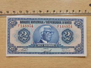 🇭🇹 Haiti 2 gourdes  P-211 1973  AU  banknote 072621-21