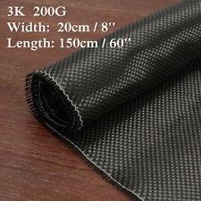 3K 200gsm Real Plain Weave Carbon Fiber Cloth Carbon Fabric Tape 8'' x 60'' !