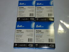 """lot of 600 quill.com postage meter labels p1150 1.5""""x5.5 2 per sheet 150ct QUILL"""