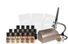 Dinair Studio Beauty Kit Fair Shades -Champagne- Upgraded to Colair Foundations!
