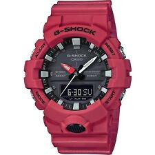 Casio G-Shock Dual Display Chronograph Red Resin Strap Gents Watch GA-800-4AER