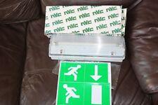 NVC Lighting NEBRASKA NNE1X8/M3/834  8W Emergency Bulkhead Light IP65 Exit Lamp