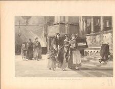 Baptème Espagne Baptism Spain of Alexandro Bezzos FRANCE GRAVURE OLD PRINT 1897